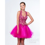 dress,flowers,a line prom gowns,terani couture,wedding dress