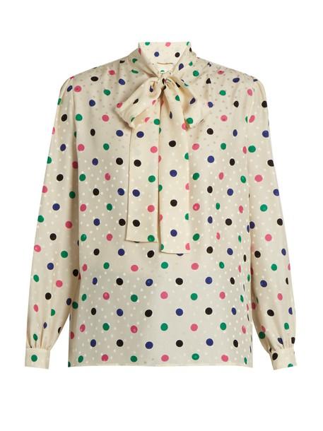 Saint Laurent blouse print silk top