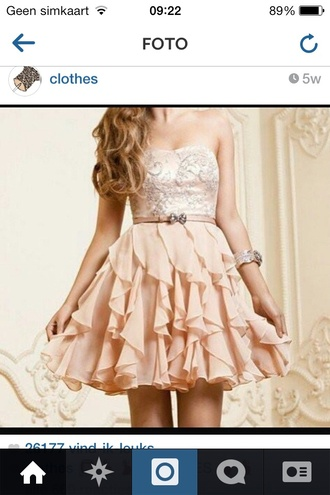 dress salmon pink waves