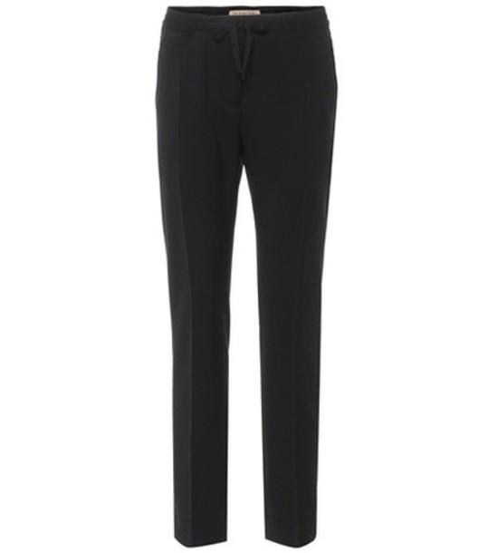 Burberry wool black pants
