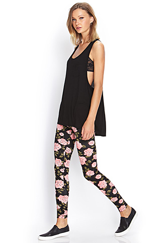 Sweet Rose Leggings | FOREVER21 - 2000069638