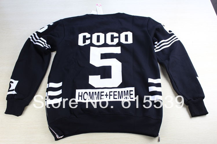 coco sweatshirt sweat homme femme sweater side zipper for women men sport pullover sportswear. Black Bedroom Furniture Sets. Home Design Ideas
