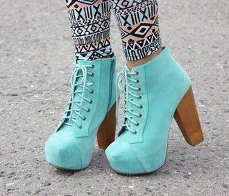 shoes platform lace up boots