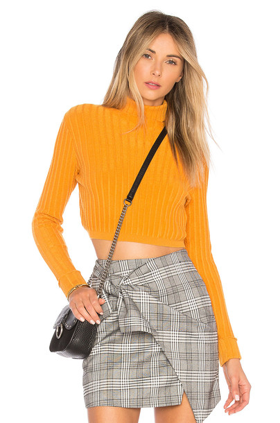 Lovers + Friends sweater girl yellow
