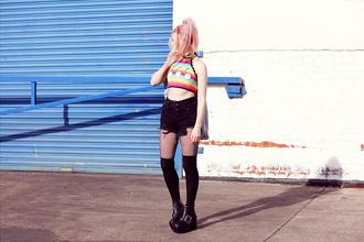 kayla hadlington blogger top jacket shorts tights shoes