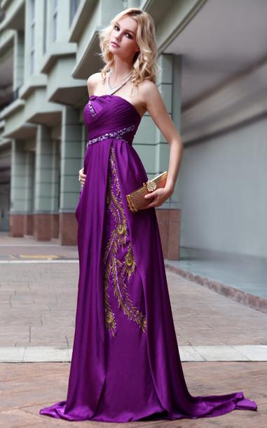 dress purple evening dress long evening dress evening dress elliot claire london