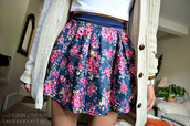 skirt,floral,blue,pink,skater,lovely,fashion,sweet,bottom,jacket,coat,pretty,skater skirt,colorful,summer,spring,style,floral skirt,summer outfits,shirt,outfit,cute,sweater,flowers,cardigan,white cardigan,where did u get that,white,top,floral tank top,nude,roses,high,heels,pink floral skirt,hollister,blue skirt,white top,cute cardigan,crop tops,t-shirt,shorts,shoes,nails,dress,jeans,pants,swimwear,bracelets