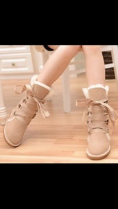 shoes,ugg boots,beige shoes,snow boots,suede,nude,winter outfits,winter boots