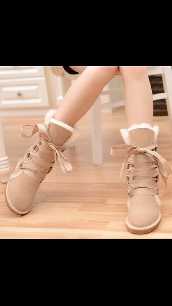 shoes ugg boots beige shoes snow boots suede nude winter outfits winter boots