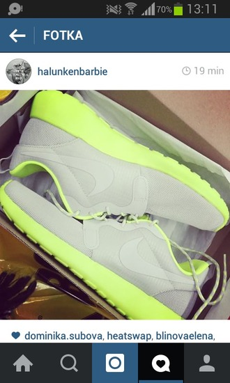 shoes nike shoes nike running shoes nike air nike sneakers nike roshe run nike free run adidas sportswear sports shoes neon shoes yellow neon run