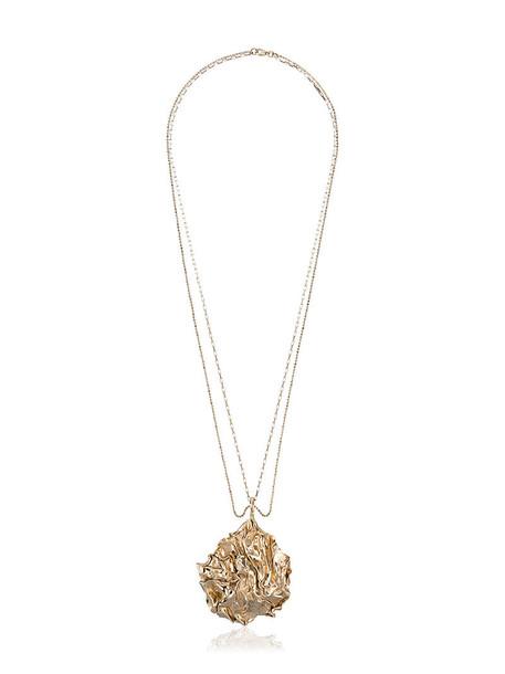 Orit Elhanati long necklace long women necklace gold grey metallic jewels