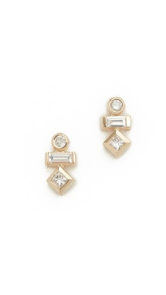 paris clear earrings stud earrings gold jewels