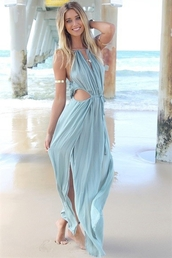 maxi dress,dressses,sleeveless,floor-length,asymmetrical,beach dress,dress,blue maxi dress,cut-out dress,cut out maxi,summer dress,cute dress,jewels,zaful,fashion,summer,beach,shopping,free shipping,maxi,stylish,blue dress,sexy dress,tie up,openwork,hollow,cut-out,high split,top,bottoms,skirt,clothes,spaghetti strap,beautiful,girly,outfit,blue,sexy,cute,trendy,cool,style,fashionista,pretty,light blue,summer outfits,solid color,gorgeous,gorgeous dress,thin,girly dress,pantone 2016,pastel,ootd,ootd dress,tumblr outfit,tumblr girl
