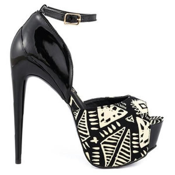 shoes aztec shoes pumps high heels appealingboutique
