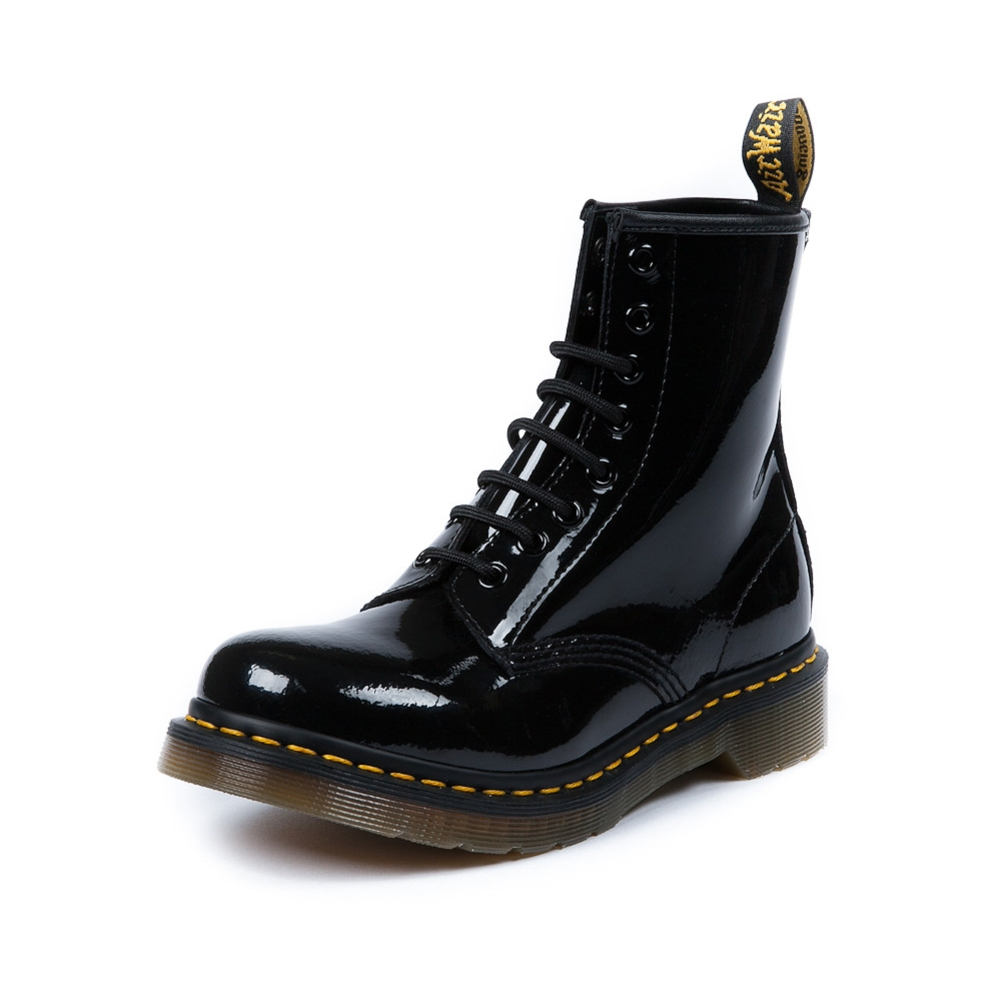Womens Dr. Martens 8-Eye Boot in Black Patent | Shi by Journeys