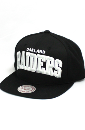 123SNAPBACKS Oakland Raiders Bold Team Arch Snapback HatBlack : Karmaloop.com - Global Concrete Culture