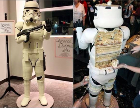 star wars shirt storm trooper Cake yummy boys and girls