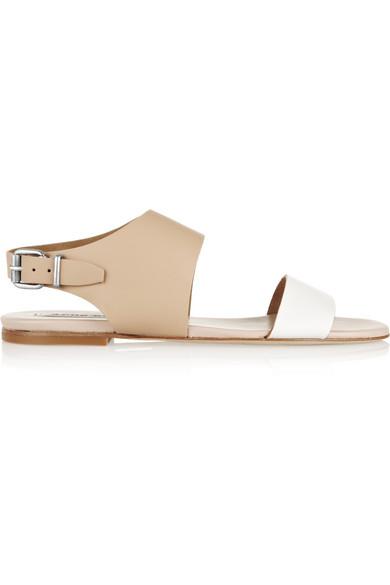 Acne Studios | Lottie two-tone leather sandals | NET-A-PORTER.COM