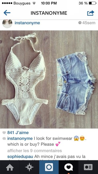 swimwear white