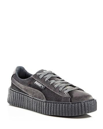 detailed look 28cb9 92fa3 FENTY Puma x Rihanna Women's Velvet Lace Up Creeper Sneakers |  Bloomingdale's