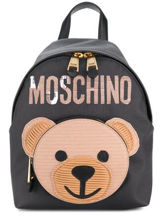bear women backpack leather black bag
