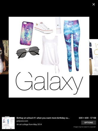 tank top galaxy print iphone case chuck taylor all stars leggings