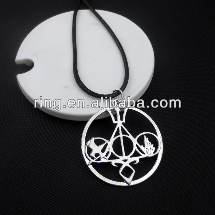 The Mortal Instruments Hunger Games Harry Potter Necklace Pendant Divergent Percy jackson Novel Necklace-in Pendants from Jewelry on Aliexpress.com