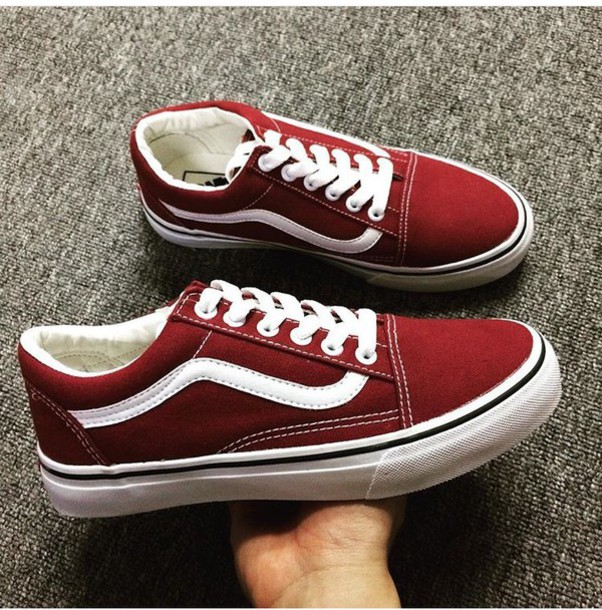 red shoes vans