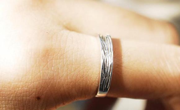 simple jewels ring simple ring simple rings texture ring handmade sterling silver