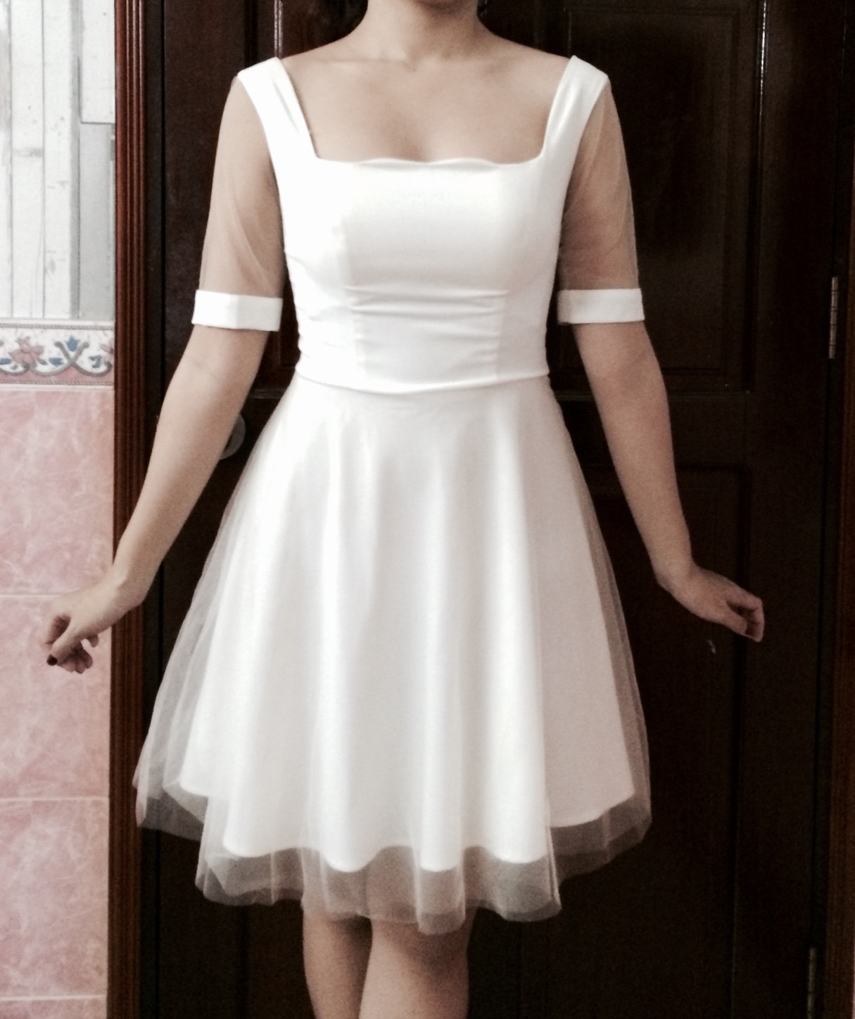 Snow White tulle dress
