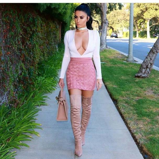 top white top summer top cute top long sleeves skirt