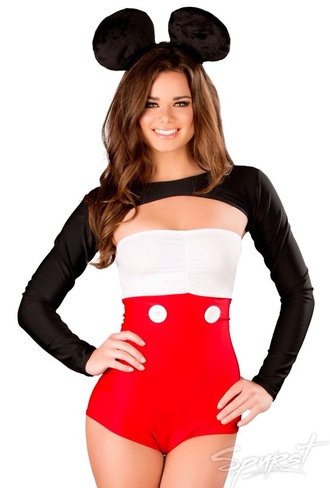dress yellow rave jumpsuit minnie mouse ears minnie mouse onsie one piece mickey mouse halloween costume halloween costume
