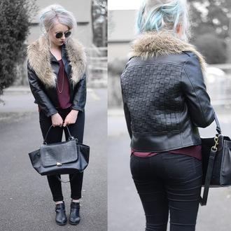 sammi jackson blogger scarf jacket jewels tank top top jeans bag shoes