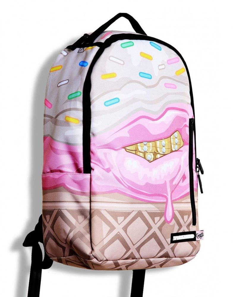 BNWT Sprayground Ice Cream Grillz Cupcake Mafia Backpack Rucksack Skate College | eBay