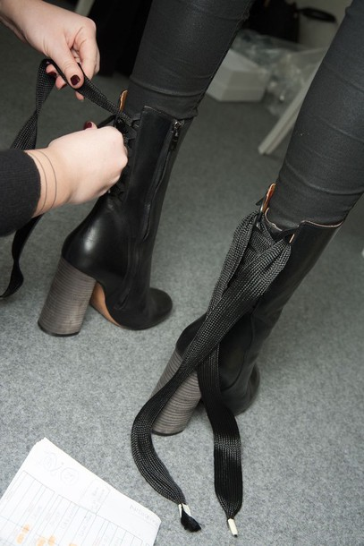shoes ankle boots black heels high heels boots