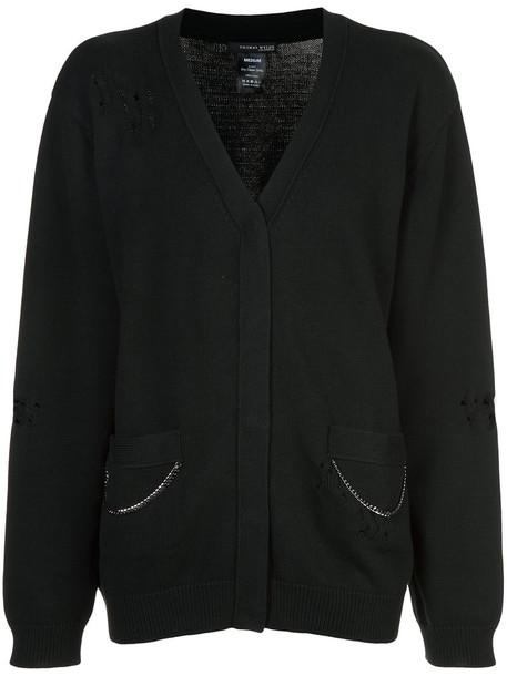 Thomas Wylde cardigan cardigan women cotton black sweater