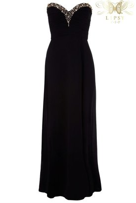 Lipsy VIP Embellished Bandeau Maxi Dress - ShopStyle