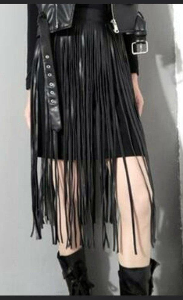Belt: black, leather, black leather, tassel, tassel belt, tassel ...