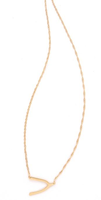 Jennifer Zeuner Jewelry Mini Wishbone Necklace | SHOPBOP