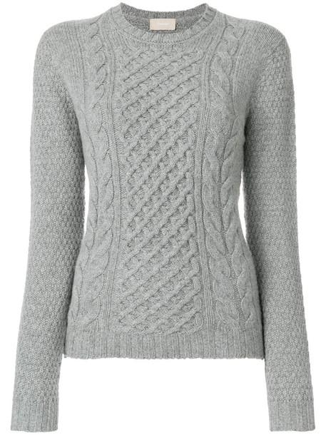 jumper women wool knit grey sweater