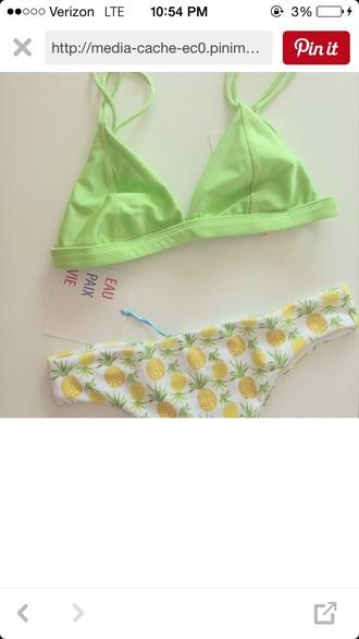 underwear pineapple swimwear bathingsuit