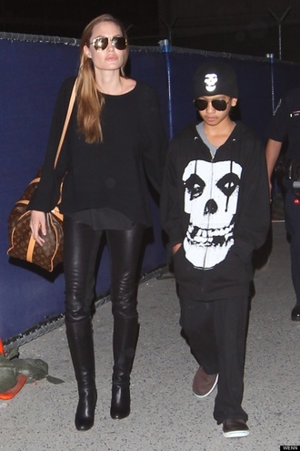 sweater angelina jolie pants shoes
