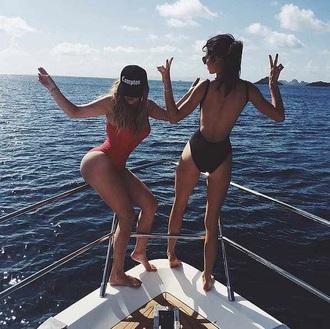 swimwear kendall jenner khloe kardashian black one piece swimsuit