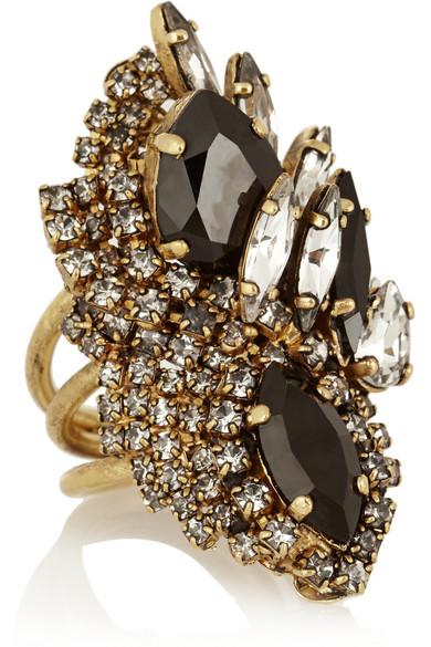 Erickson Beamon|  Aerin Swarovski crystal cocktail ring|NET-A-PORTER.COM