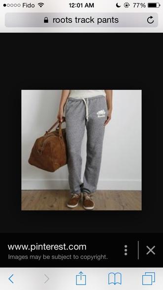 pants grey grey sweatpants roots sweatpants relax comfortable sweatpants style in