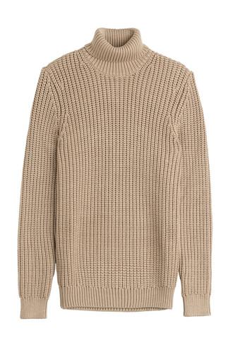 turtleneck beige sweater