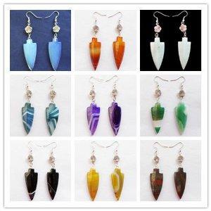 Amazon.com: wholesale! beautiful mixed gemstone arrow earrings: pendants: jewelry