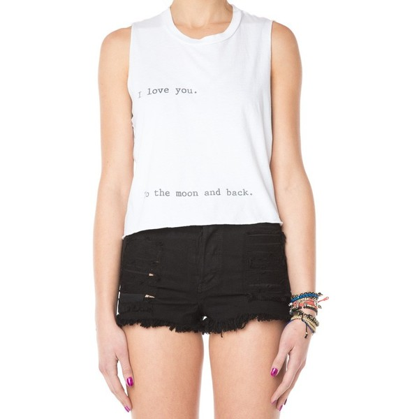 I Love You To The Moon And Back Tank - Brandy Melville - Polyvore