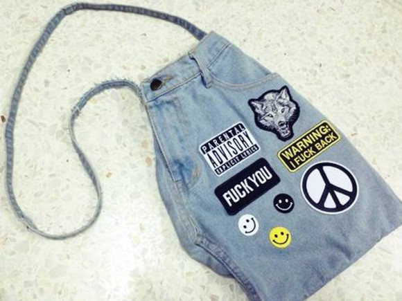 bag backpack jeans denim hand made