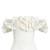 Theresa off-the-shoulder ruffled linen top